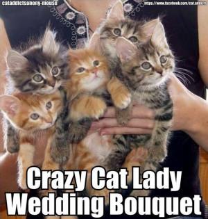 Crazy Cat Lady Wedding Bouquet