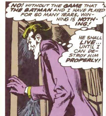 The Joker gives up the chance to kill Batman in