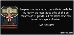 Everyone now has a sacred cow in the tax code. For my money, the most ...