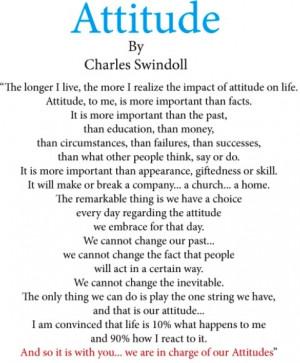Attitude Quotes Charles Swindoll Attitude \ chuck swindoll .