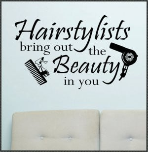 Vinyl Wall Quotes Lettering Hairstylists Bring Beauty
