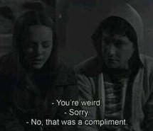 black and white, couple, donnie darko, jake gyllenhaal, quotes, weird
