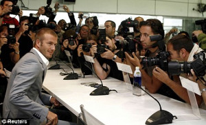 Listen up: David Beckham has always been centre of attention wherever ...