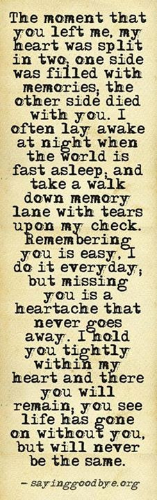 You are here: Home › Quotes › I miss my mom everyday ♥