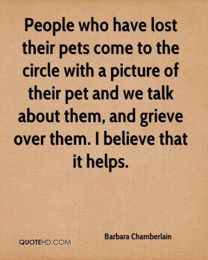 have lost their pets come to the circle with a picture of their pet ...