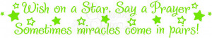 Nursery Wall Quotes | Quotes for Twins