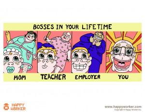 Evolution from subordination to bossdom
