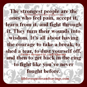 Strong People Fight Back..
