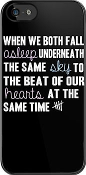We both fall asleep underneath the same sky, to the beat of our ...