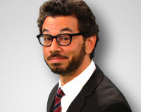 Rain reminds me of Al Madrigal, so I just imagine the daily show with ...