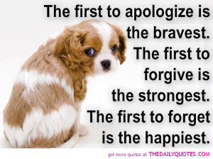 The First To Apologize Is……… | The Daily Quotes