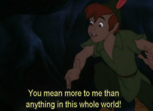 cute, disney, love, movie, peter pan, quote, world