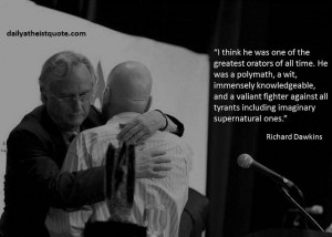Richard Dawkins about Christopher Hitchens (post mortem)