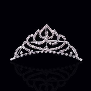 coração de prata pingente coroa de reis de cristal pedra rainha da ...