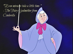 "... Miracles Take A Little Time "" - The Fairy Godmother From Cinderella"