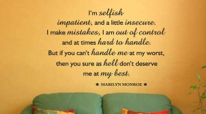 Quotes On Insecurity Impatient insecure quote
