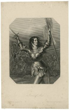 henry cook joan of arc fighting the english scene from king henry vi ...