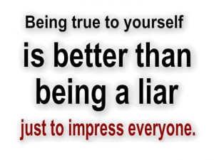 Being true to yourself
