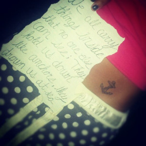 Anchor tattoos for girls8621 Anchor Tattoos For Girls