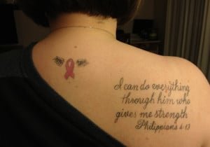 Breast Cancer Tattoo In Memory Of My Mom Dumb Shit To Show Ma