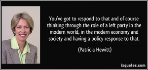 More Patricia Hewitt Quotes