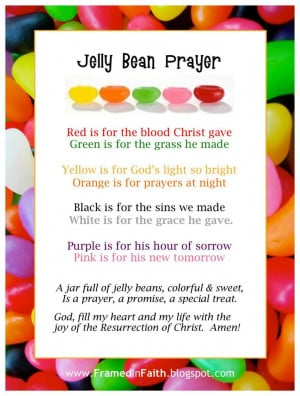 The Jelly Bean Prayer. Great object lesson!