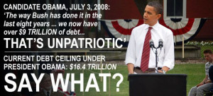 Debt ceiling skyrockets, Obama no longer calls Bush 'unpatriotic' for ...