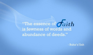 The essence of Faith #Bahai Quotes Yes this does include tweets and ...