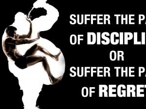 quotes pain discipline motivational posters motivation black ...