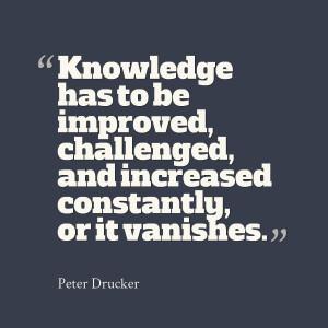 100% true #Drucker #Quote. Grow or die. #Leadership