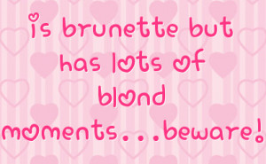 Blonde Facebook Status On Hearts Background