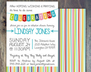 Celebrate! Adoption Invitation, Sho wer, Party or Finalization. For ...