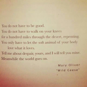 Mary Oliver, Wild Geese