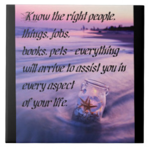 Inspirational positive beach theme quote ceramic tile