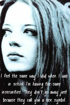 Shirley Manson quote - even celebrities have insecurities.