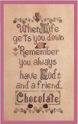God & Chocolate - Cross Stitch Pattern