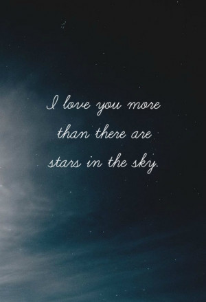 stars night sky love quote quotes