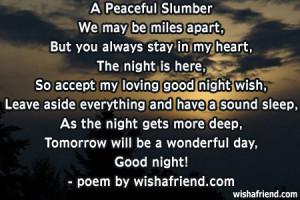 Peaceful SlumberWe may