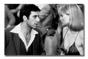 Scarface - Tony Montana With Elvira Montana Movie Film Motion Picture
