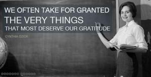 Teacher thank you...
