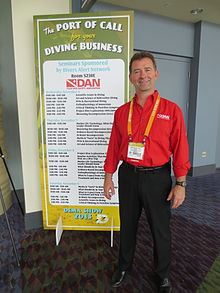 Pollock before speaking at the 2013 DEMA Show