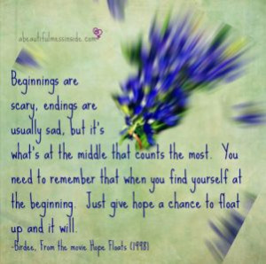 Inspirational quotes: hope floats