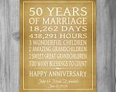 Golden Anniversary Gift Grandparents 50th Anniversary Gift 50 Years Pe ...