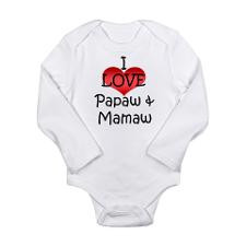 Love Papaw & Mamaw Infant Creeper Body Suit for