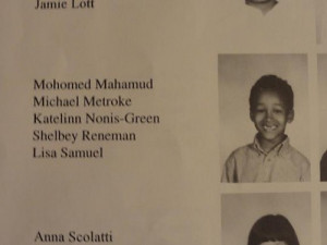 KATU Mohamud's 1st grade yearbook: They spelled his name wrong...