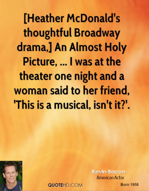 Heather McDonald's thoughtful Broadway drama,] An Almost Holy Picture ...