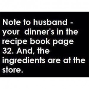 Note to Husband