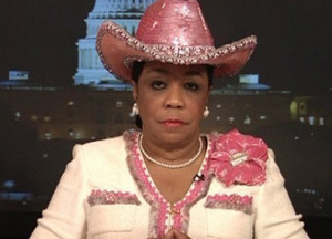 Sheila Jackson Lee makes Khaddafi look like a class act.