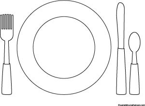 coloring pages of place setting - photo#12