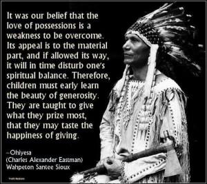 Disturb ones spiritual balance